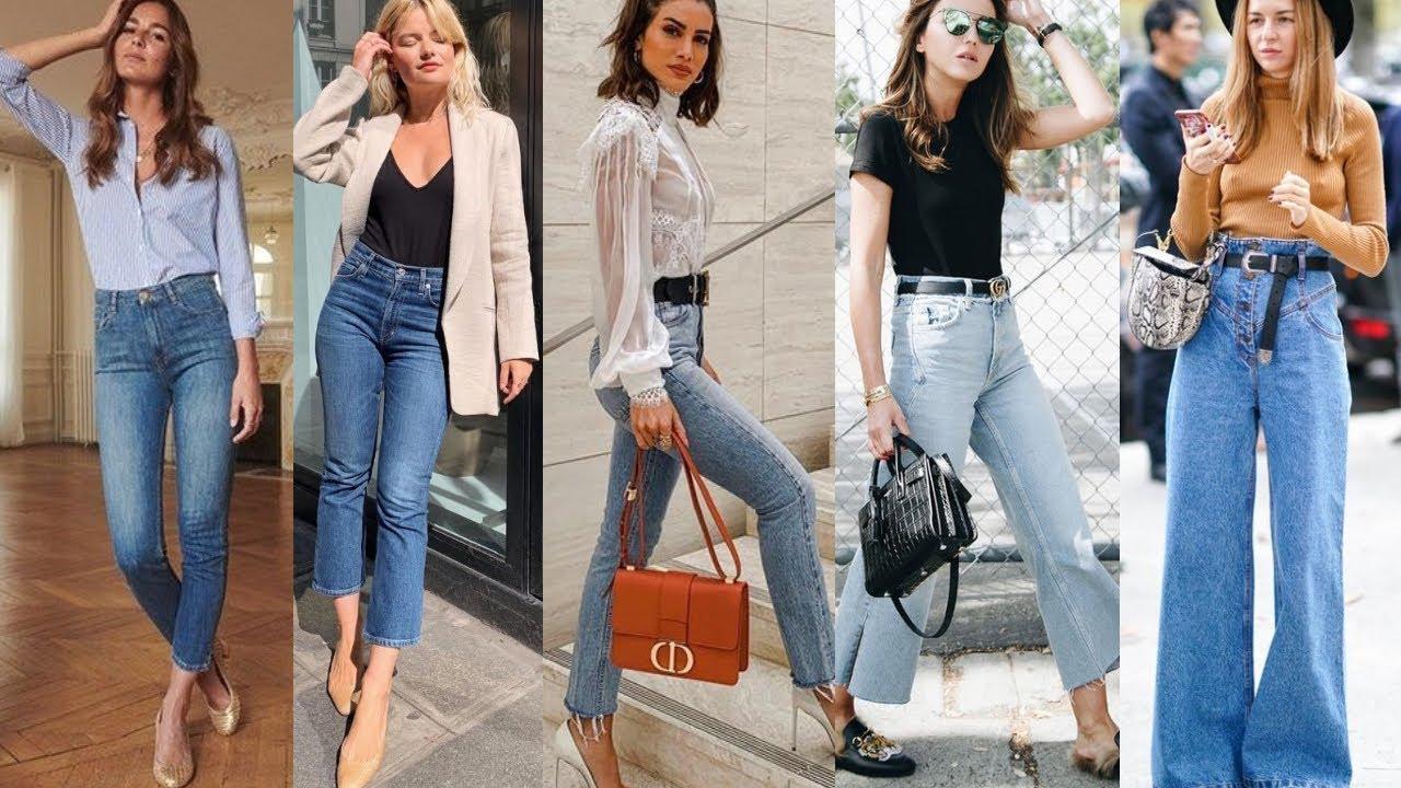 Pantalones De Moda 2021 Jeans De Moda 2021 De Cintura Alta Outfits Looks Y Combinaciones Youtube