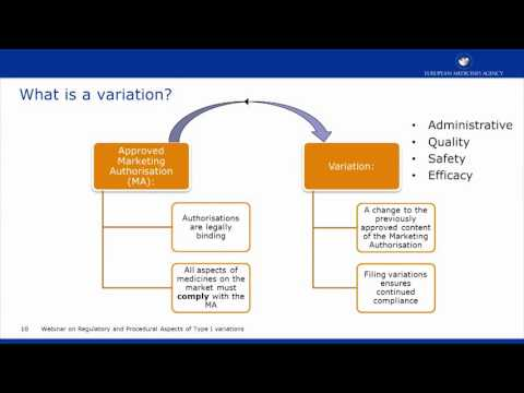 Webinar on Regulatory and Procedural Aspects of Type I variations
