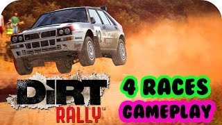 DIRT RALLY Early Access Game Gameplay 4 Races PC HD