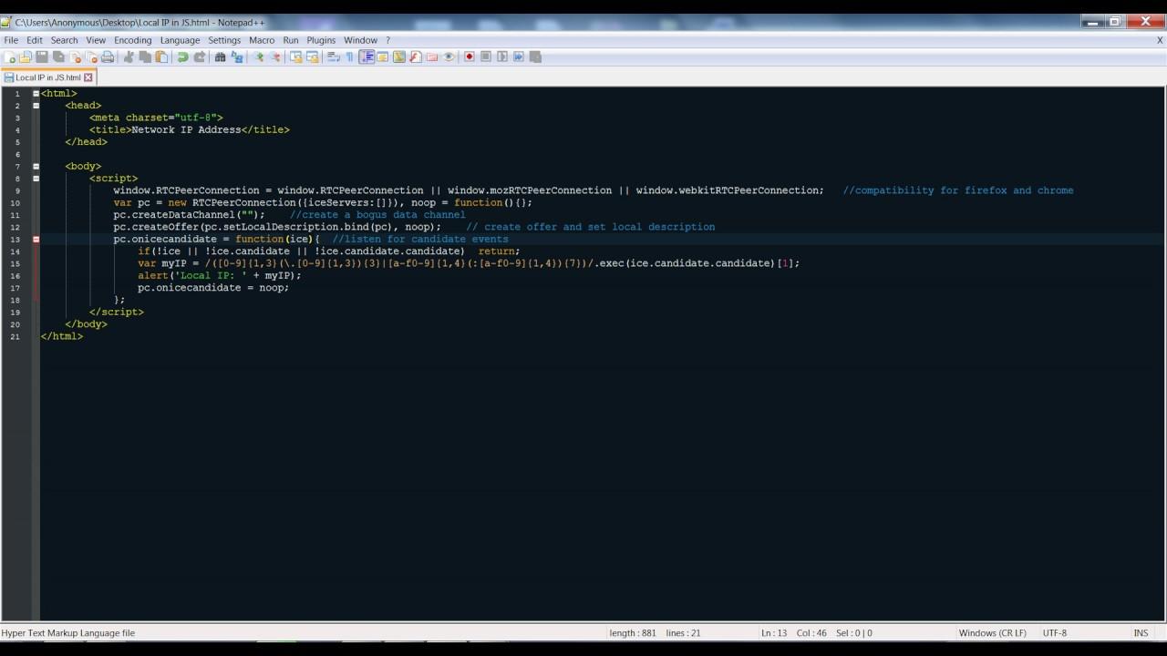 client mac address using javascript