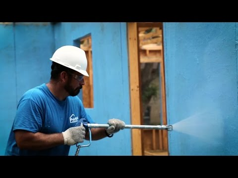 Poly Wall® - Building Solutions (PBS) - Blue Barrier™ Liquid Wrap 2300 Application