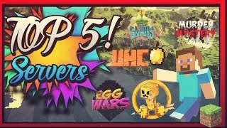 TOP 5 SERVIDORES DE MINECRAFT NO PREMIUM😝►|1.12/1.8| UHC |Battle Royal | Sky wars | EggWars & MÁS