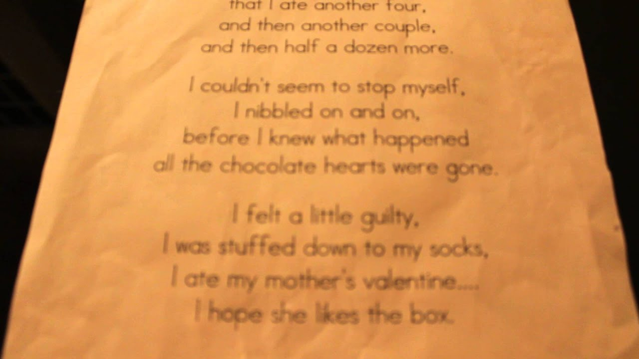 Mother S Chocolate Valentine Read Alone Youtube