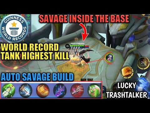 tank highest kill ever | savage inside the base | auto savage build | lolita abuse in mayhem
