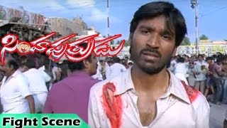 Dhanush Fight Scene | Simha Putrudu Movie | Tamanna | Studio One