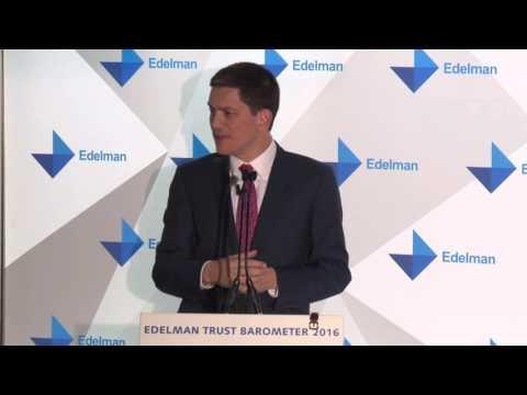 Edelman Trust Barometer 2016: David Miliband on Business & Government
