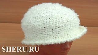 Шляпка из столбиков без накида Урок 41 часть 2 из 2 Haak Hat Tutorial