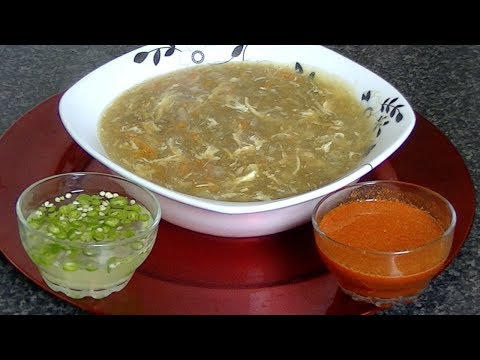 HOT & SOUR SOUP - ہاٹ اینڈ سار سوپ  - हॉट एंड सर सूप  *COOK WITH FAIZA*