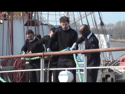 Departure DAR Mlodziezy Antwerp Maritime Academy Trainee Trip March 2012