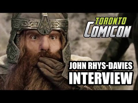 John Rhys-Davies talks THE LORD OF THE RINGS, SLIDERS and more - Toronto Comicon Interview