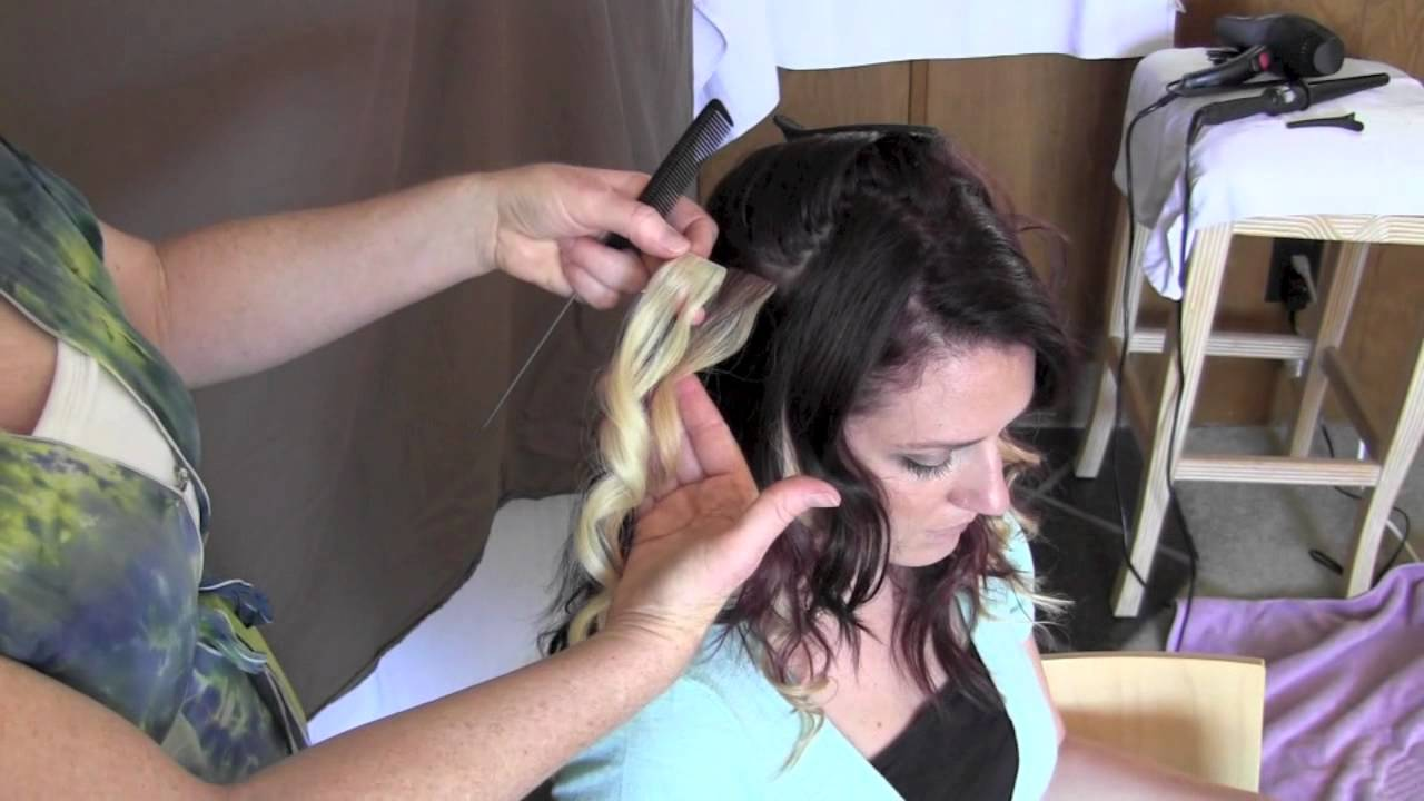 Tutorial How To Apply Hotheads Hair Extensions To Achieve