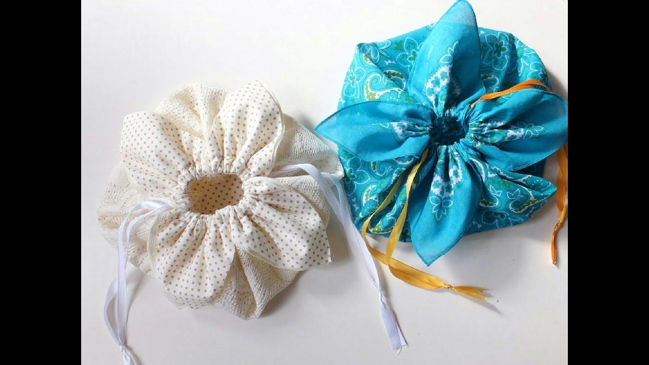 DIY ** Petal drawstring bag tutorial, by hand sewing ...
