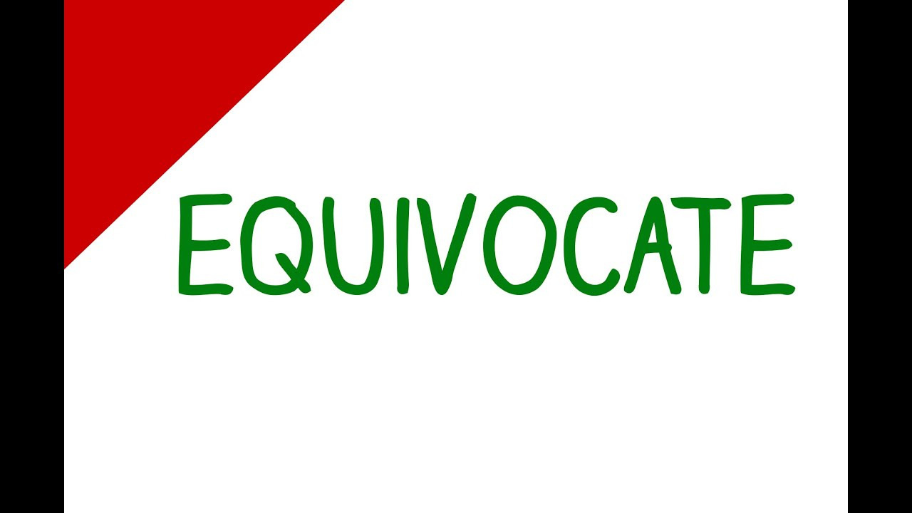 Learn English Words   Equivocate (Vocabulary Video)