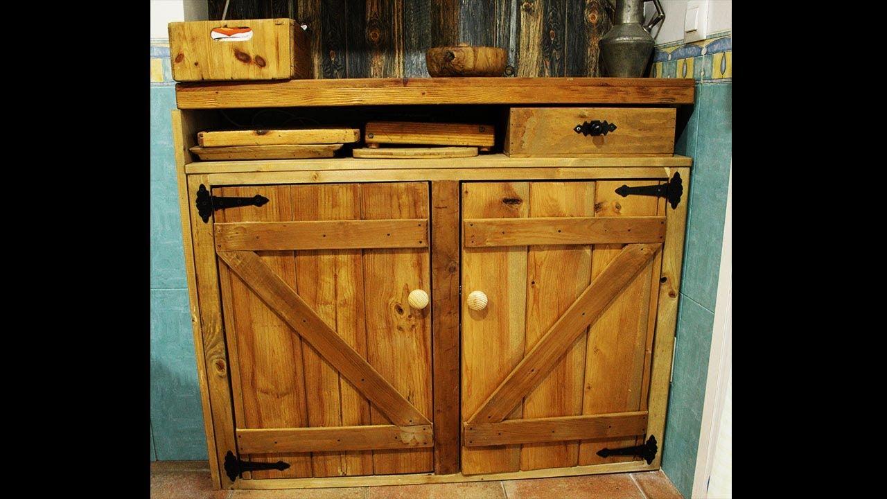 Como Hacer Un Mueble Rustico De Madera Rustic Furniture
