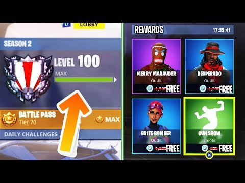 Fortnite Season 2 LEVEL 100 WHAT HAPPENS? (WORLD'S First Fortnite Battle Royale Level 100)