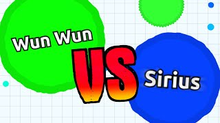 WUN WUN vs. SIRIUS // Official Agario Battle // Agar.io Solo Gameplay
