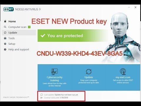 ESET Node 32 serial key 2018