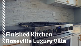 Short Video from Luxury Villa Finished Kitchen