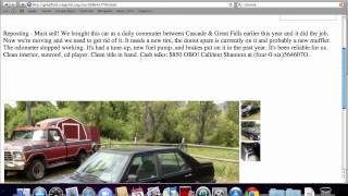 Craigslist Great Falls Montana - Used Cars, Trucks and Vans for Sale by Owner Popular
