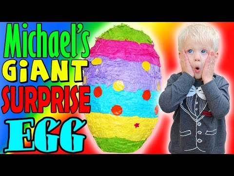 Michael's GIANT Surprise Egg!!