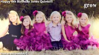 Happy early 6th birthday Jones Quints!!!
