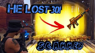 Rich Kid Loses 30 Grave Diggers! (Scammer Gets Scammed) Fortnite Save The World
