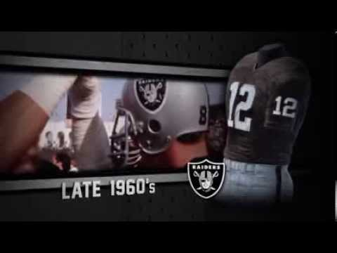 Oakland Raiders uniform and uniform color history