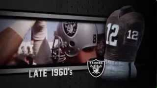 Oakland Raiders uniform and uniform color history