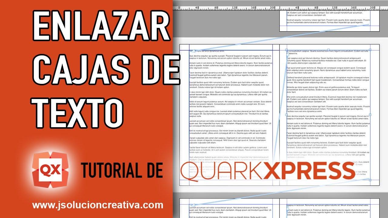 Cómo enlazar cajas de texto en QuarkXPress - YouTube