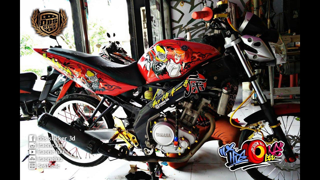Foto Cutting Sticker Untuk Motor Racing Modif Sticker