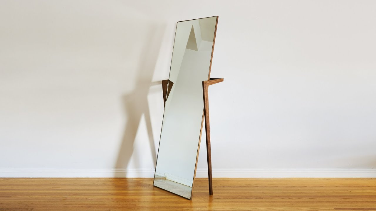 Wooden Mirror Stand Designs : How to build a free standing mirror woodworking youtube