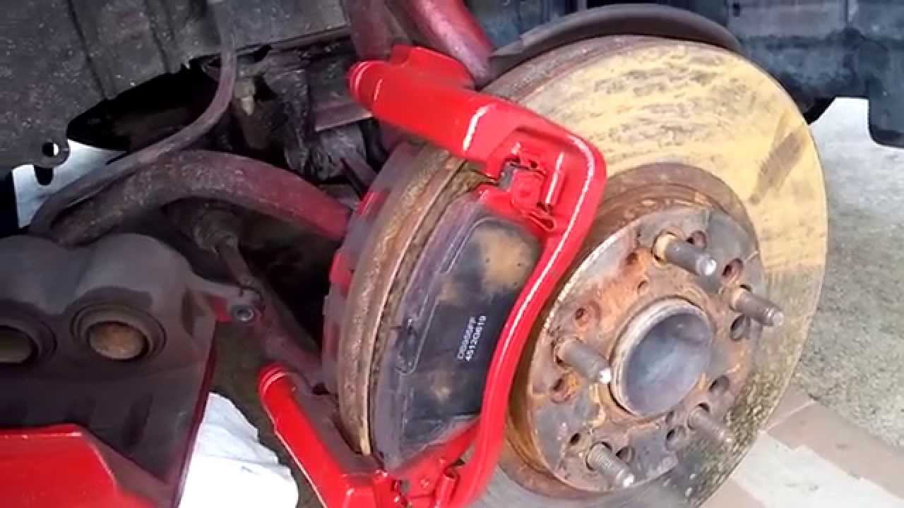 Brembo Brake Pads >> DIY Lexus iS GS300 Front Brake Pads and Rotors Replacement ...