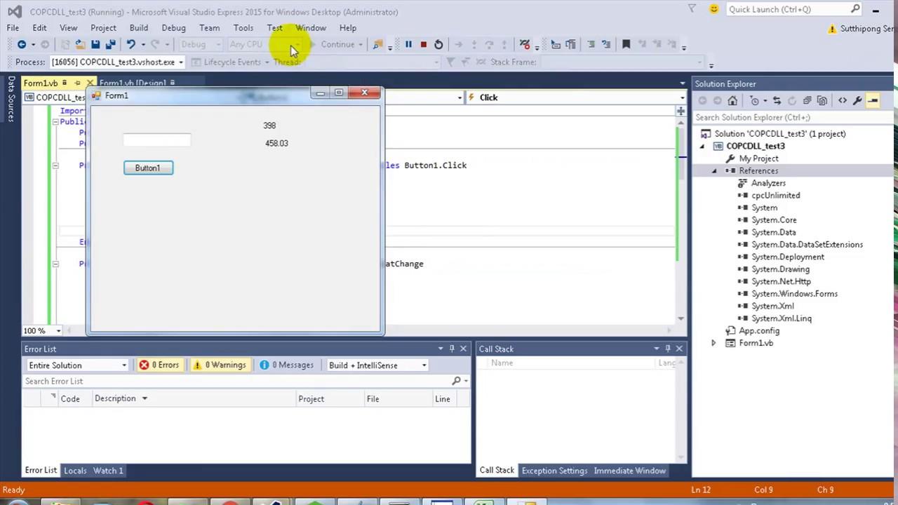 Create Simple SCADA on VS Studio (VB Net) with COPC DLL