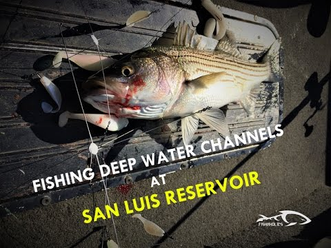 Fishing deep water channels at san luis reservoir youtube for San luis reservoir fishing report