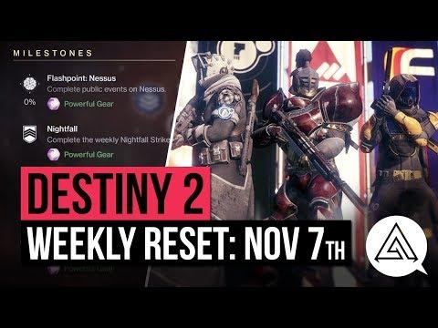 DESTINY 2 | Weekly Reset - FACTION RALLY, New Gear, Milestones & Vendor Items (November 7th)