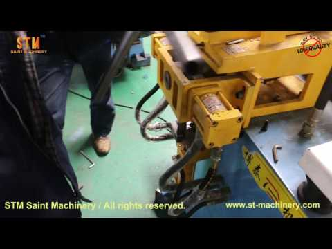 STM customized tube holes punching machine, holes making machine episode 1