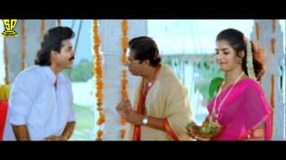 Venky Arounding to Temple | Comedy Scene | Dharmachakram | Venkatesh | Prema