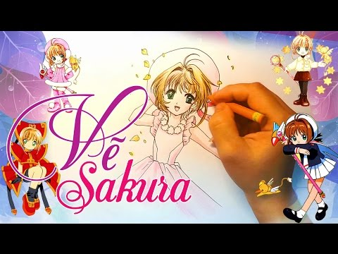 Vẽ Sakura Kinomoto Thủ Lĩnh Thẻ Bài - How To Draw  Card Captor Sakura