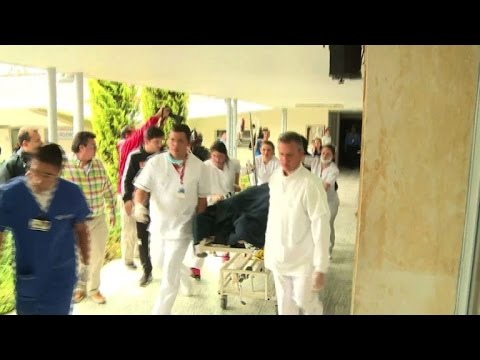 Survivors of the Colombia plane crash taken to hospital