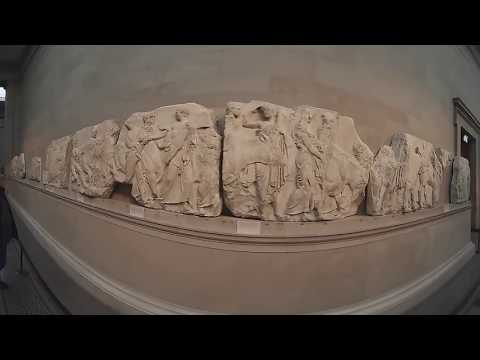 Elgin marbles in British Museum-360 video