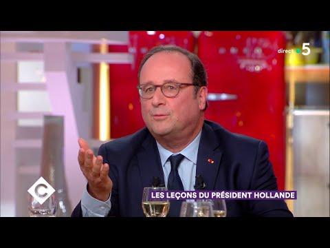 Obama, Chirac, la vie à l'Elysée... Un dîner avec François Hollande - C à Vous - 12/04/2018