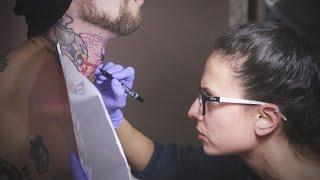 Invictus Tattoo - Nyaktetoválás - Neck tattoo