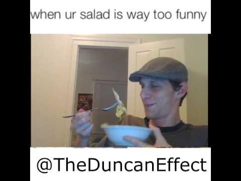 When ur salad is way too funny IRL