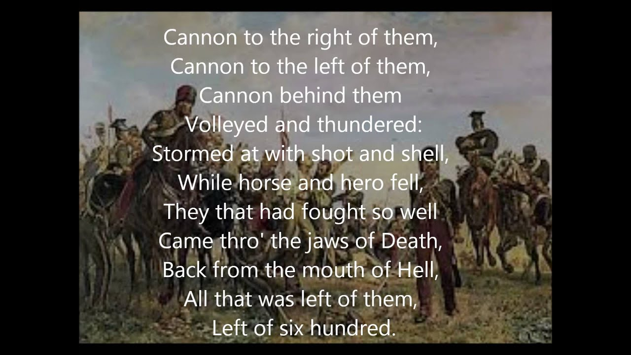 Image result for charge of the light brigade quotes