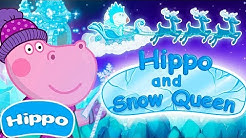 Hippo 🌼 Hippos Märchen 🌼 Schneekönigin 🌼 Cartoon Spiel für Kinder