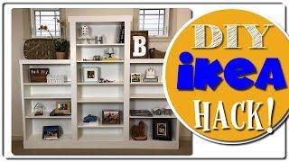 Ikea Hack   Custom Built In   Billy Bookcase