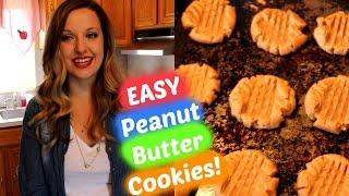 Easy Peanut Butter Cookies Recipe!