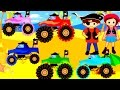 Monster Trucks & Pirate Games for Kids - Learn Colors, Alphabet, Numbers, Shapes & Truck Match Up