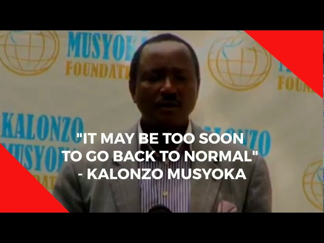 Kalonzo shares his thoughts on reopening the country