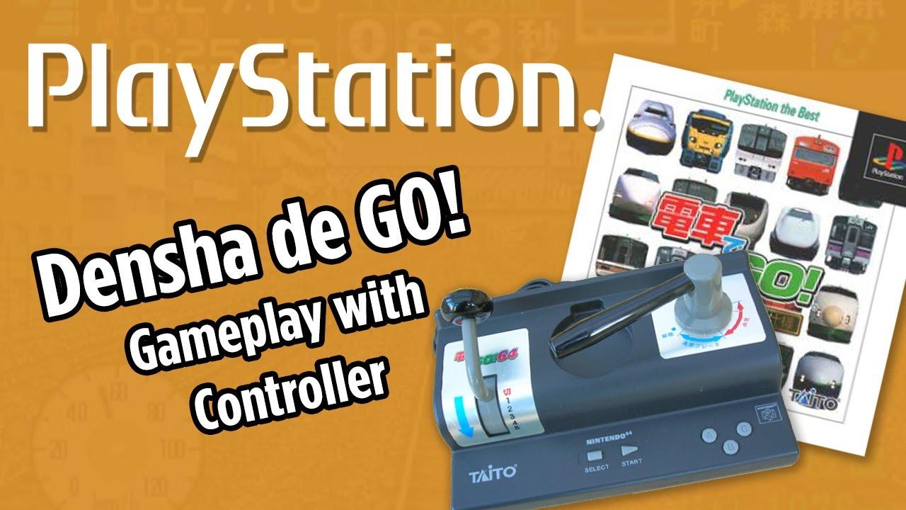 Densha de go! Gameplay with controller [電車でgo! ] playstation.